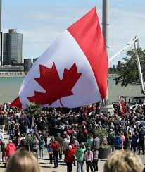 project complete great canadian flag raising videos and images