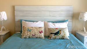 diy weathered wood headboard farmhouse and interalle com