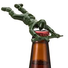 amazon com sgt pryer green army man bottle opener fun unique