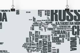 World Cloud Map by Word Cloud World Map World Maps Poster Customaps