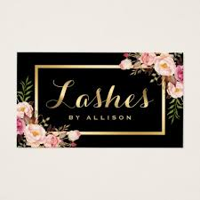 Makeup Business Cards Designs Eyelash Business Cards U0026 Templates Zazzle