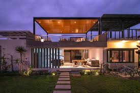 outdoor living house plans chic seasonal house in peru by romo arquitectos living