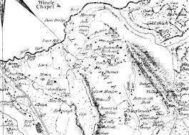 Map Of England And Wales Forests And Chases Of England And Wales Early Maps