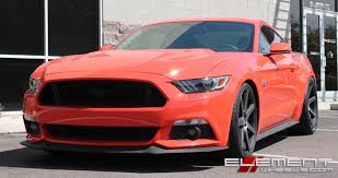 Matte Black Ford Mustang 20 Inch Staggered Niche Verona Matte Black Machined W Tint On