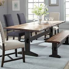 Dining Table Natural Wood Shop Scott Living Natural Honey Wood Live Edge Dining Table At