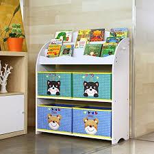 scaffali bambini homfa mensola libreria porta giocattoli con scatole per bambini