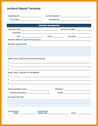 5 incident report template word exclusive resumes