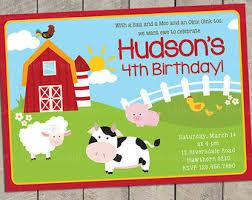 barnyard birthday invitations kawaiitheo