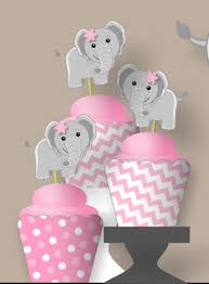 pink baby elephant baby shower decoration banner or first