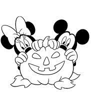 mickey friends halloween coloring pages kids disney