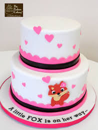 fox baby shower cake the hudson cakery