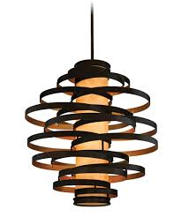 vertigo spiral bronze and gold leaf modern pendant chandelier lighting modern living room corbett lighting ve 76 vertigo 45 inch wide 6 light large pendant