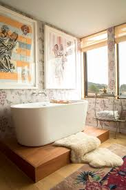 bathroom with wallpaper ideas charmingly bathtub design ideas for bathroom