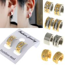 new stainless steel men women unisex ear circle hoop huggie
