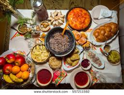 thanksgiving celebration traditional dinner setting food stock photo