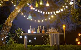 outdoor lighting shabby chic style garden hshire