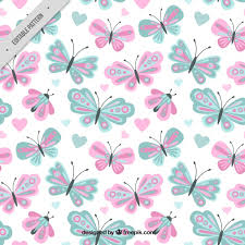 butterfly pattern in pastel colors vector free
