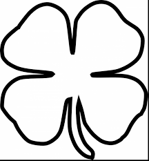 4 leaf clover coloring page omeletta me