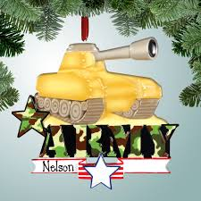 occupations ornaments army tank personalized free