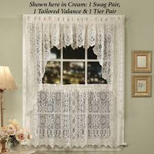 24 Inch Kitchen Curtains Decoration Lace Curtains Ivory Lace Curtain Panels 24 Inch