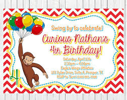 curious george invitations curious george invitations