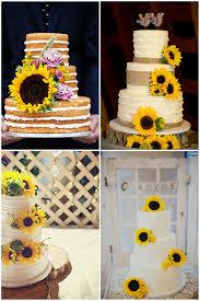 sunflower wedding ideas sunflower wedding cakes amazing wedding cake ideas with sunflower