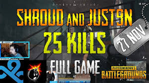 pubg 50 kills pubg shroud and just9n 25 kills test server pubg tube