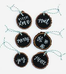 chalk art wood slice gift tags 6 pack tree slices alabama and