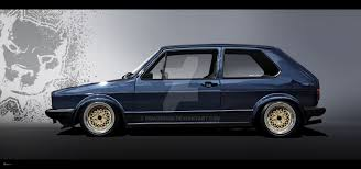 volkswagen caribe tuned vw golf 1 vexel by ribadesign on deviantart