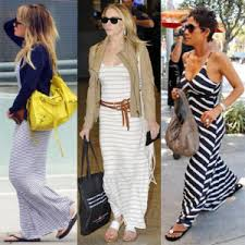 black and white striped maxi dress everything stripes