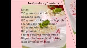 cara membuat es krim wafer resep ice cream potong strowberry youtube