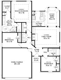 Ten Bedroom House Plans Bedroom Bath Open Floor Plans With House Inspirations Pictures 2