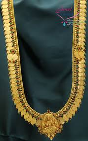 long chain necklace designs images Temple jewellery mango coin long necklace in gold designs jpg