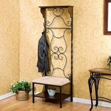 Metal Hall Tree Bench Hall Tree Entry Bench Coat Rack Foter