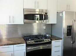 metal backsplashes for kitchens stainless steel tile backsplash leonia silver tile 6x24 metal tiles