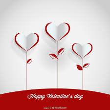 Design For Valentines Card Paper Heart Flowers Valentine U0027s Day Card Design 123freevectors