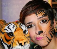 Tiger Halloween Makeup by Tiger Make Up Youtube