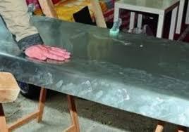 plan de travail cuisine en zinc feuille de zinc pour plan travail on decoration d interieur moderne