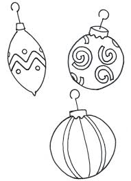 christmas tree ornament coloring pages kids coloring