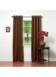 basic solid grommet thermal insulated blackout curtains 104