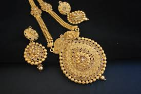 gold long necklace set images Reeti fashions fine intricate design long necklace set jpg