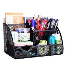 Plastic Desk Organizer Amazonbasics Mesh Desk Organizer Office Products