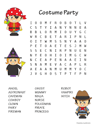 costume word search