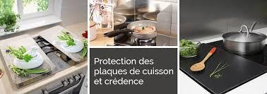 plaque de cuisine protection plaques de cuisson crédence organisation de la