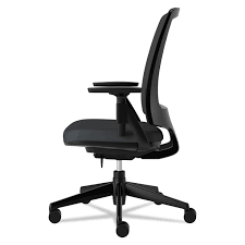 Office Chair Side View Lota Series Mesh Mid Back Work Chair By Hon Hon2281va10t