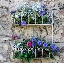 Metal Wall Planter by Shabby Chic French Vintage Style Metal Garden Wall Basket Planter