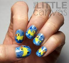 donald duck inspired nail art design bonita bon bons kyras 3 rd