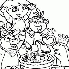 dora explorer coloring pages