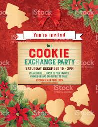 christmas cookie exchangepartyeinladung vorlage vektor