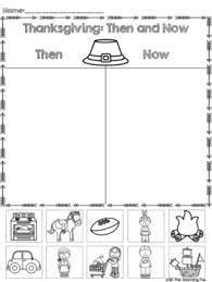 thanksgiving then and now printable sort by the teaching fox tpt